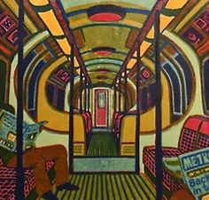 Gail Brodholt chooses the London underground as her main source of inspiration, both architectrally and those who inhabit the spaces of transport. Her fine art blank greeting cards reproduced from linocut prints available at The Blank CardCompny. London Snow, London Art, Linocut Prints, Art Prints, Woodblock Print, Travel Posters, Printmaking, Art Projects, Illustration Art
