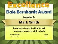 Awards Workplace Awards for Fun Funny Award Ideas for Employees Funny Certificates, Award Certificates, Certificate Templates, Printable Certificates, Fun Awards, Teacher Awards, Camp Awards, Sports Awards, Awards 2017