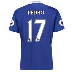 16-17 Chelsea Football Shirt Cheap Home Replica Shirts #17 PEDRO [E272]
