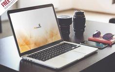 Macbook Pro Display Mockup Free PSD