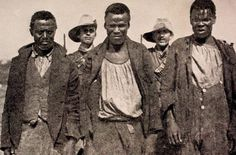 The caption says that these are captured African spies near Waterval, Standerton. War Novels, Armed Conflict, Defence Force, History Projects, Modern Warfare, Interesting History, My Land, My Heritage, British Army