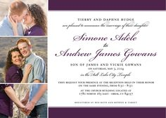The Invitation Maker offers high quality, custom wedding invitations with a unique 1-on-1 experience that can be done entirely online. Check out our other designs (including more chevron and stripe wedding invitations!) at theinvitationmaker.com