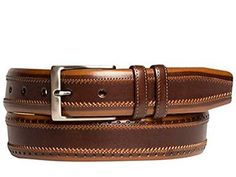 Mezlan Mens Premium Belt , Brown/Tan, 40 Medium  http://www.shopluxuriously.com #Mezlan #mens #Belt #Belts #premium