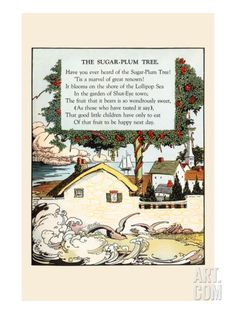 The Sugar Plum Tree Premium Poster by Eugene Field at Art.com