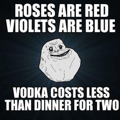 vodka costs less