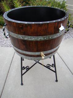 Garden wine barrel cooler http://www.etsy.com/listing/164134098/barnwood-creations-llc-custom-builds