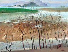 wu guanzhong paintings   Vogue] Painting Master Wu Guanzhong