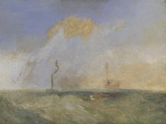 Joseph Mallord William Turner, 'Steamer and Lightship; a study for 'The Fighting Temeraire'' circa 1838-9
