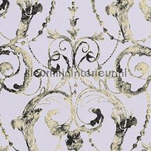 Guirlandes soft paars-goud behang AS Creation alle afbeeldingen