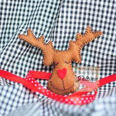 Christmas Ornament - Felt Reindeer Face 5 pieces set Christmas Ornament - Felt Reindeer for Christmas Decoration