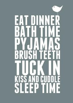 Checklist before bed!