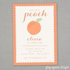 peachy 3 year old birthday party ideas at home. Little Peach Birthday Invitation on Etsy  12 00 Georgia First Party