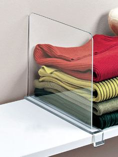 Smart ways to use all of your closet shelving space