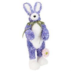 RAZ Imports Purple Hydrangea Bunny