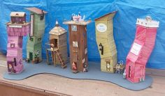 These are so cool!! Craft stick houses 3D story