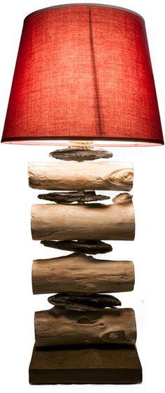 Base in ardesia scura finitura in boise flotte e scaglie di pietra ardesia.paralume in cotone