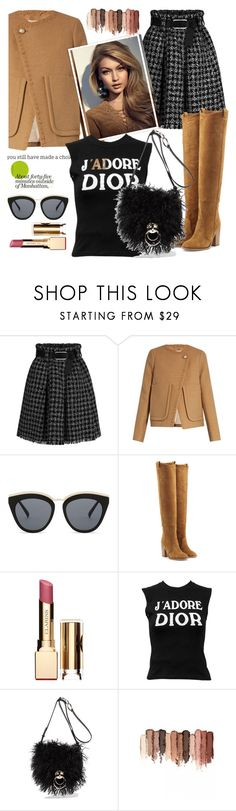 """""""Untitled #833"""" by pesanjsp ❤ liked on Polyvore featuring See by Chloé, Le Specs, Laurence Dacade, Clarins, Christian Dior, Diane Von Furstenberg and tarte"""