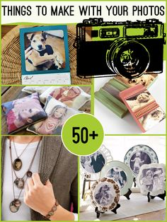 Over #50 Projects to make from your photos ! Each Has its own Tutorial !