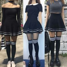 Korean Fashion – How to Dress up Korean Style – Designer Fashion Tips Edgy Outfits, Mode Outfits, Grunge Outfits, Girl Outfits, Fashion Outfits, Skirt Fashion, Fashion Clothes, Kawaii Fashion, Cute Fashion