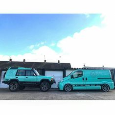 @danroache_s6wraps With His Mint 😜 Lifted And Lowered Whips #ModifiedVans