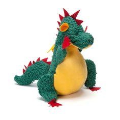 Organic Dragon Stuffed Animal in Plush Toys - Nova Natural Toys + Crafts Pet Dragon, Natural Toys, Toy Craft, Soft Dolls, Plushies, Dinosaur Stuffed Animal, Stuffed Animals, Baby Toys, Christmas Ornaments