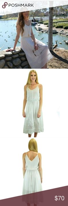 💥30% Off Bundles💥Relished Midi Maxi Dress 💥OFF BUNDLES WHEN YOU BUY TWO ITEMS💥💥JUST got whit hot, with this relished midi maxi silhouette dress. Craft very light weight 96% Rayon 4% Spandex for ultra smooth touch. Ensure the perfect fit, and comfortable spaghetti straps. Inside lining, handwash cold with like colors. Do not bleach! Lay flat to dry, warm iron if need. Relished Dresses Midi