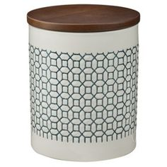 Threshold™ Stoneware Canister with Wood Lid - (L... : Target Mobile