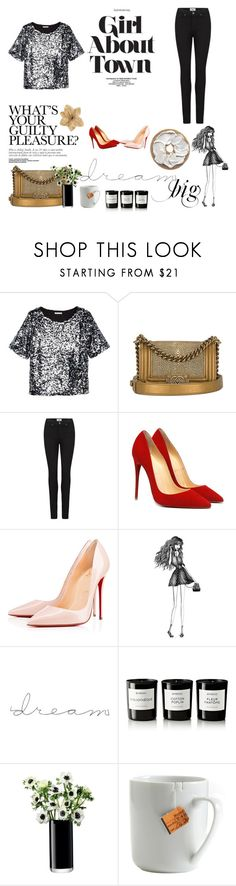 """fashion tbdress reviews for women"" by tbdressreviews ❤ liked on Polyvore featuring H&M, Chanel, Paige Denim, Christian Louboutin, Percy & Reed, Byredo, LSA International, le mouton noir & co., Clips and tbdressreviews"