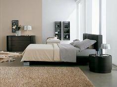 Minimalist bedroom - wall colours with black furniture  |   Dormitorios minimalistas - color de pared con muebles negros