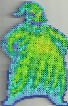Oogie Boogie perler beads by Ravenfox-Beadsprites on deviantart