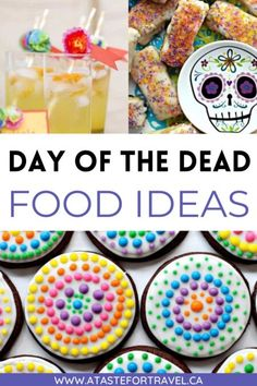 Day of the Dead is a Mexican celebration of life honouring deceased loved ones and features  altars decorated with flowers, candles, sugar skulls and favourite foods. To help you plan your own Día de Los Muertos party, we've gathered the very best entertaining ideas in one handy spot. These recipes are so delicious and easy to make they're sure to inspire you to throw your own Day of the Dead celebration #diadelosmuertos