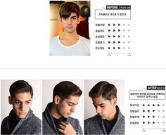 Before and after picture of the Mark Jay   #before #and #after #cut #haircut #hair #cut #cool #handsome #soonsiki #soonsikihair #hairstyle #style #hongdae