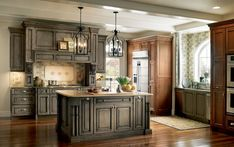 Devonshire Medallion cabinets in 'Appaloosa' stain