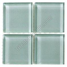 American Olean Legacy Glass - 2X2 LG15 Moonlight - 2 X 2 Designer Essentials Legacy Glass Tile Mosaic - Glossy