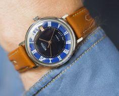Navy men's wristwatch Wostok shabby face gent's watch by SovietEra