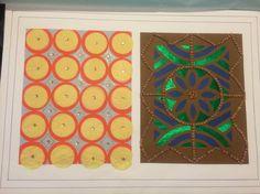 teoría del color fabric pattern textura de tela paper cut textil papel patrón de tela amarillo naraja gris azul verde marron