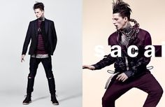 Ash Stymest styled by Karl Templer for Sacai's spring-summer 2016 campaign.