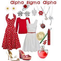 Alpha Sigma Alpha, created by violetpretty on Polyvore