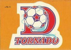 1979 Topps NASL #6 Dallas Tornado Logo Front