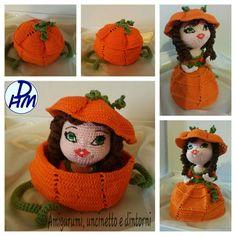 Crochet Food, Knit Or Crochet, Crochet Dolls, Crochet Hats, Amigurumi Patterns, Amigurumi Doll, Knitting Patterns, Crochet Patterns, Crochet Pumpkin