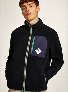 Shop men's New In This Week at Topman for a stylish and affordable look. Jacket Images, Blue Highlights, Navy Color, Barbour, Hooded Jacket, Man Shop, Model, How To Wear, Jackets