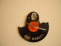 Reloj de Pared Calado en Disco de Vinilo / Laser Cutting Wall Vinyl Clock