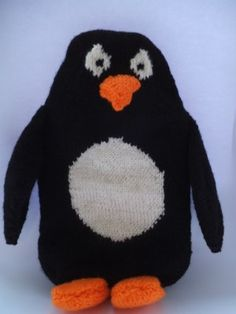 Penguin Hot Water Bottle Knitting Pattern