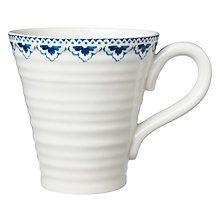 Buy Sophie Conran for Portmeirion Maud Pattern Mug, White/Blue Online at johnlewis.com
