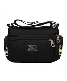 02c966c3a2e9 Women Multi Crossbody Bag Nylon Shoulder Bag Weekend Shopping Bag - Black -  CR183R7S93R  Bags