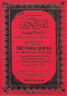 Noble Quran, Dr Muhammad Muhsin Khan, Arabic-English, Hard Back, Medium Books On Islam, Palestine Flag, Noble Quran, Islamic Gifts, Islam Muslim, Muhammad, English Language, Ramadan, Meant To Be