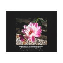 Pink Irish Blessing Gallery Wrapped Canvas
