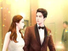 Cute Couple Art, Anime Love Couple, Sweet Couple, Korean Illustration, Couple Illustration, Lovely Girl Image, Girls Image, Anime Couples, Cute Couples