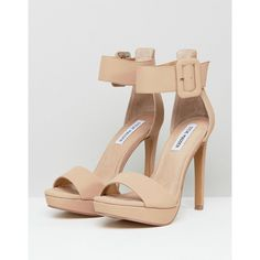 a32e3f73161 Steve Madden Coco Nude Heeled Sandals (175 AUD) ❤ liked on Polyvore  featuring shoes
