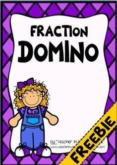 FREEBIE Fraction Domino